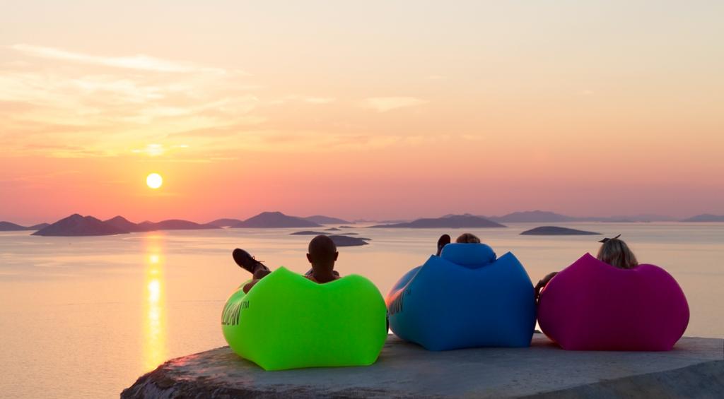 Hamac Gonflable - couché de soleil