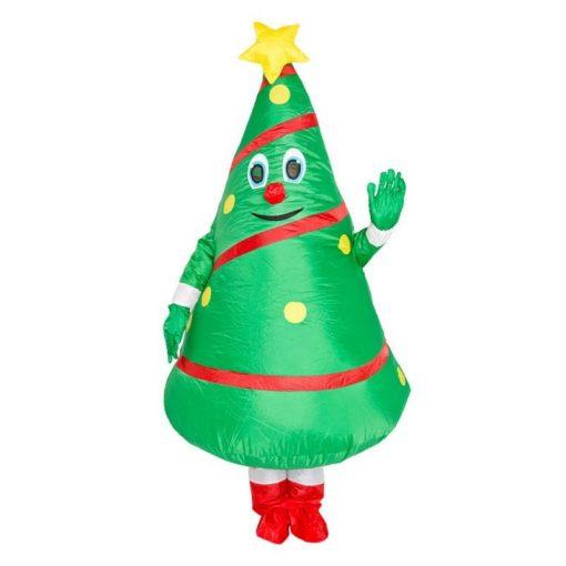 Père Noël Gonflable Sapin