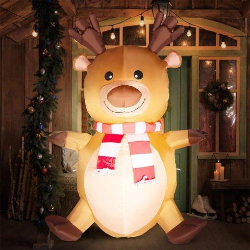 Père Noël Gonflable Elk Décorative
