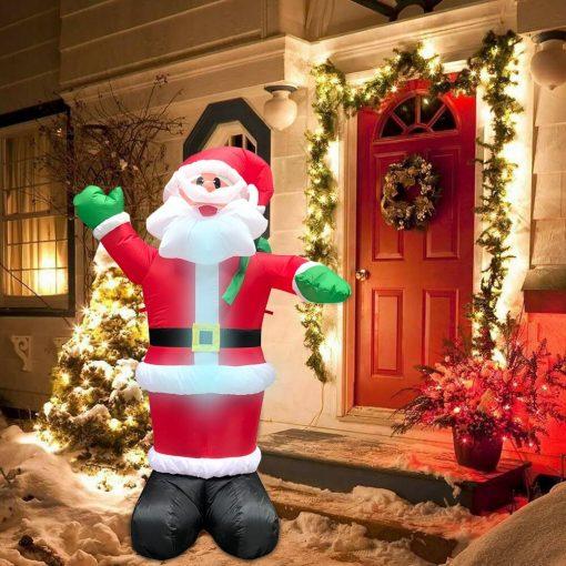 Père Noël Gonflable Extérieur